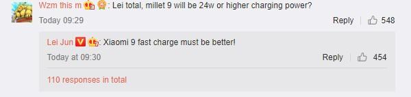 小米9將配備更高效的快充功能?