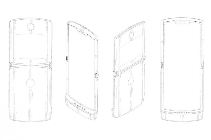 Mobile Phones: Motorola patent reveals RAZR-like foldable smartphone
