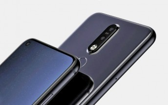 Nokia 8.1 Plus renders show a punch hole camera on a 6.2