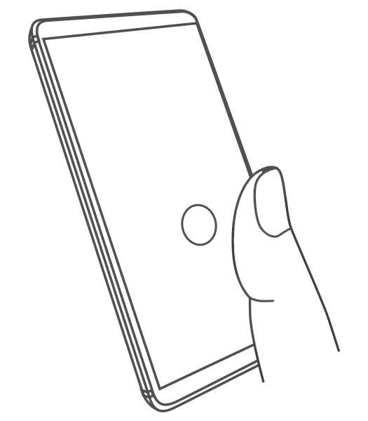 Diagrams to help you set up the Nokia 9 in-display fingerprint reader