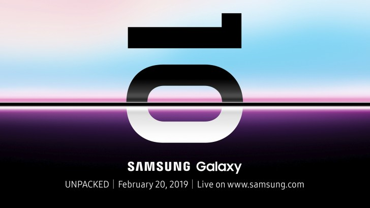 Samsung Galaxy 10 to be unveiled on February 20th