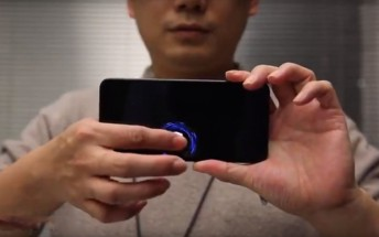 Xiaomi CEO showcases fingerprint scanner under the whole screen