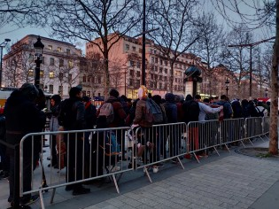 People are lining for the Mi Store five hours before the official opening