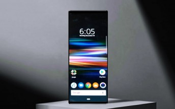 Image of Sony Xperia XZ4 homescreen surfaces
