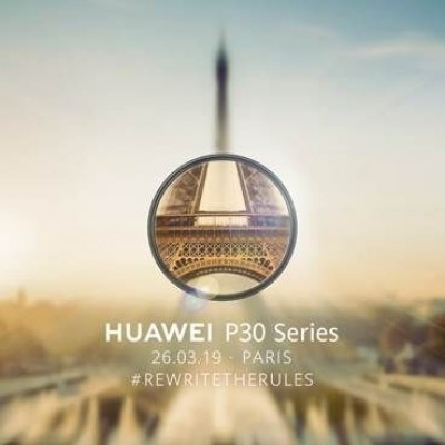 Huawei confirm the P30 to be announced in Paris on 26th March