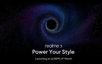 Realme 3 officially arriving on March 4