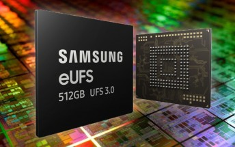Samsung starts mass producing world's first 512GB eUFS 3.0 storage solution