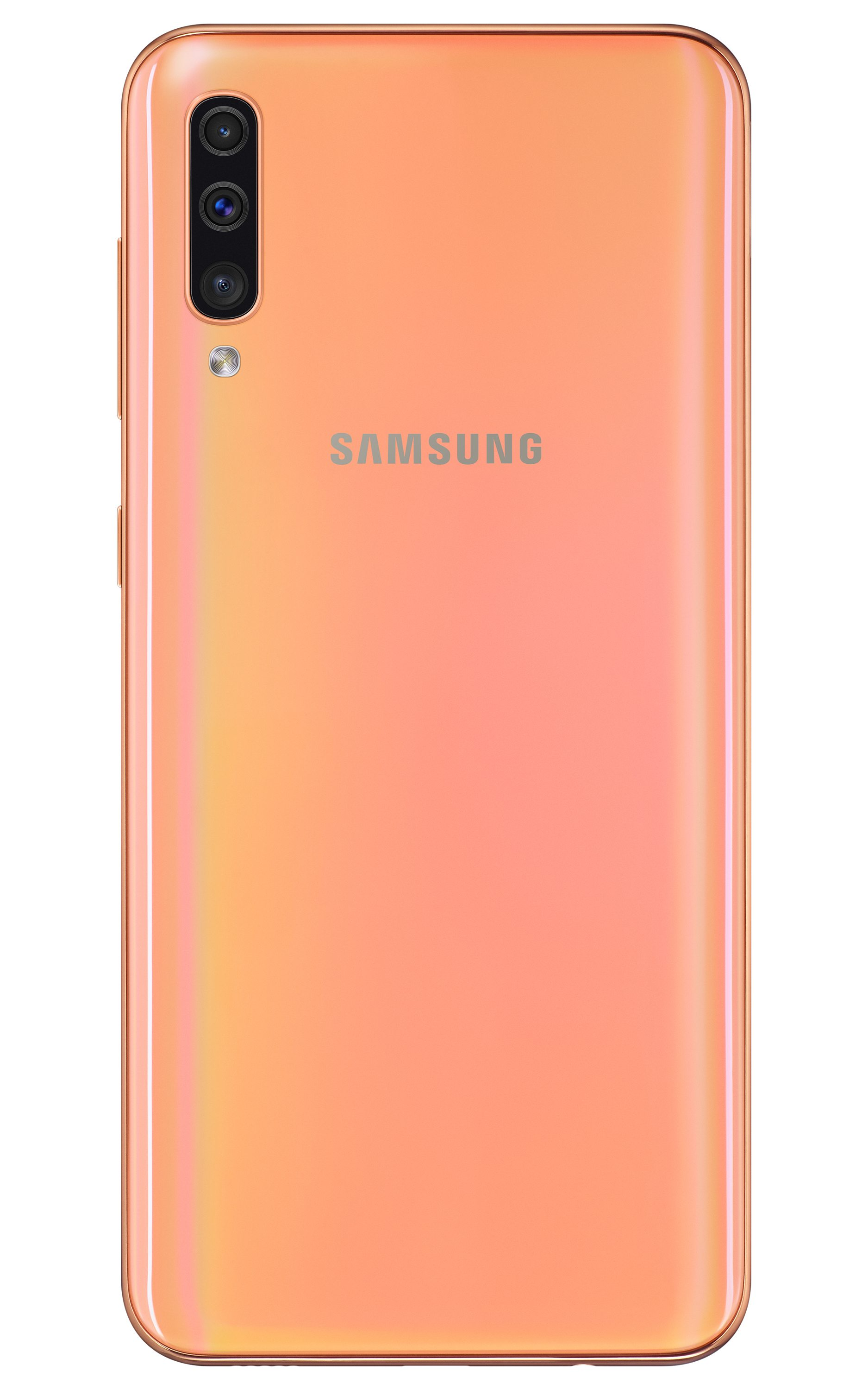 Samsung Galaxy A50 in Coral