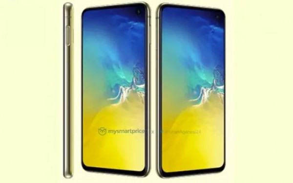 Samsung Galaxy S10e revealed in Canary Yellow: Packing side fingerprint scanner too?