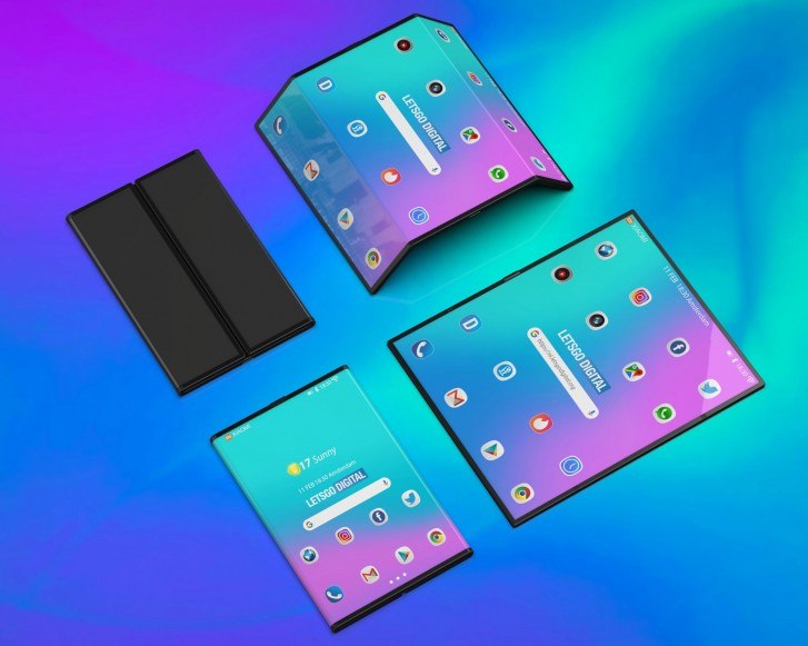 This is what Google's foldable display looks like