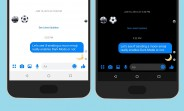 You can enable Facebook Messenger's Dark Mode with a moon emoji