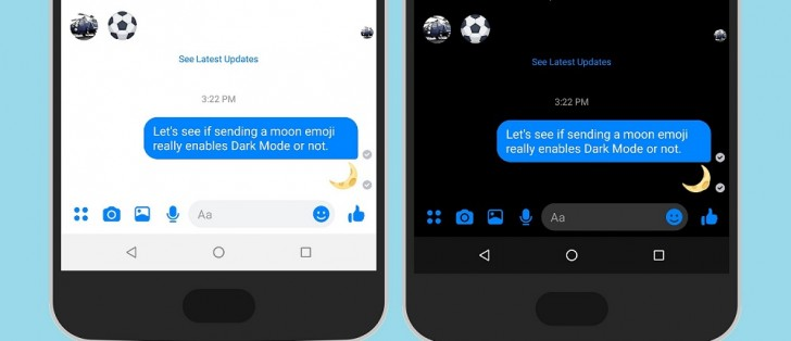 how to enable dark mode messenger iphone