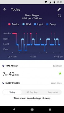 Fitbit app with the Inspire band