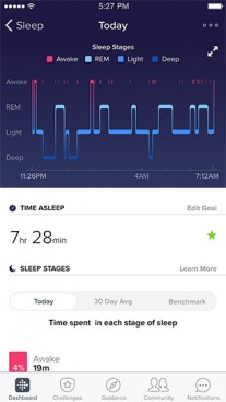 The Fitbit app