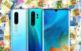 Huawei P30 Pro to start at €930, the base P30 at €750, according to price estimates