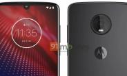 Motorola Moto Z4 image leaks showing off waterdrop notch and a single rear camera