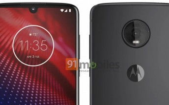 Motorola Moto Z4 image leaks showing off waterdrop notch and a single rear camera