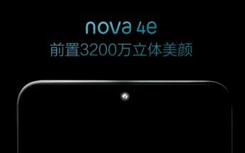 Huawei teases the Huawei nova 4e also known as the P30 Lite