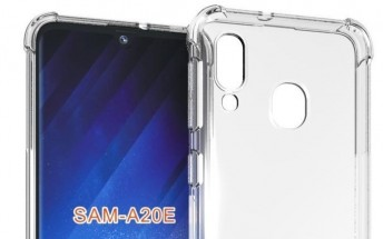 Alleged Galaxy A20e case renders show it will look similar to the A20