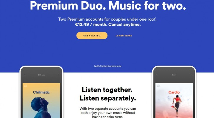Spotify Has a Couples' Subscription on the Way