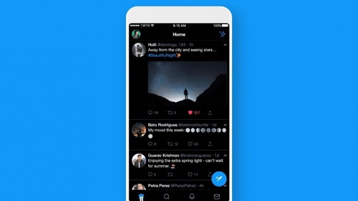 Twitter's new dark mode is actually black and it's glorious