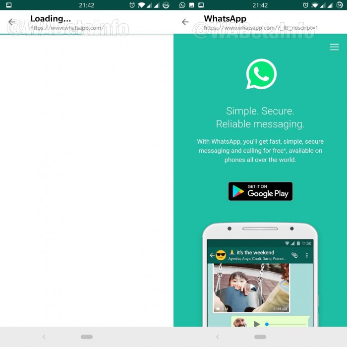 WhatsApp beta features reverse image search, in-app browser