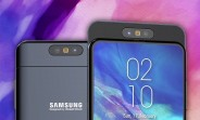 Samsung Galaxy A90 video shows a slider with a rotating camera