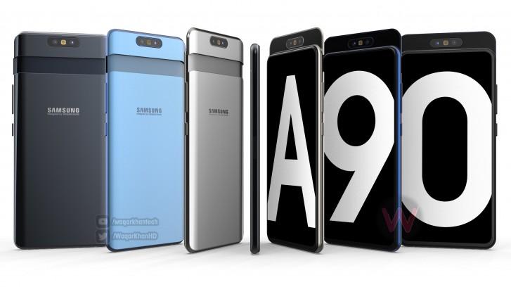 Galaxy A80 (A90)渲染图