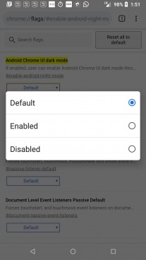 Enabling Dark Mode option in Google Chrome