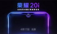 Honor 20i is coming officially on April 17