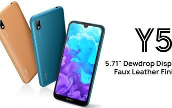 Huawei Y5 2019 arrives with Helio A22 SoC and 5.71-inch notched display