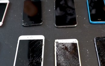 What do you do with a bunch of old Galaxies and iPhones? Wreck them of course