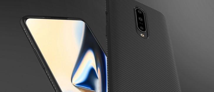 OnePlus 7 case renders show off notch-less display and triple rear cameras