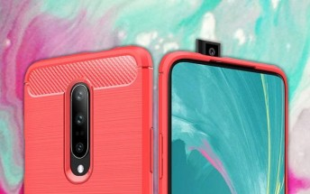 More OnePlus 7 cases hit the web, show the selfie camera peeking up from the top