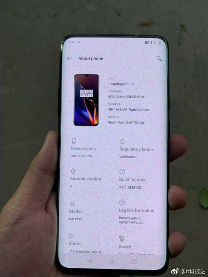 OnePlus 7 Pro appears in the wild, might be the company's 5G