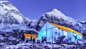 Dazzling view of Basecamp in Night