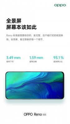 Official Oppo Reno teasers promises thin bezels, 93.1% screen to body ratio