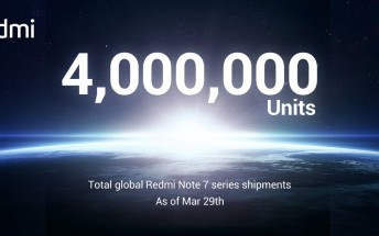 Global Redmi Note 7 shipments top 4 million