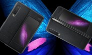 Here's the official Samsung Galaxy Fold leather case