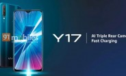 vivo Y17 detailed specs surface with 6.35-inch notched display and triple rear cameras