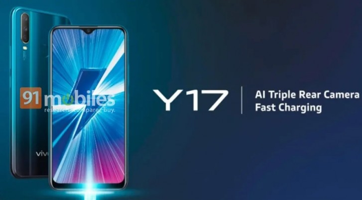 vivo Y17 detailed specs surface with 6 35-inch notched