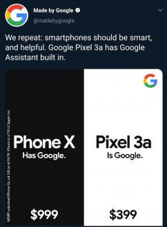 Google's latest Pixel 3a ads