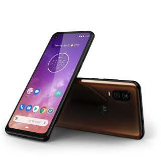 Motorola One Vision in Blue and Bronze