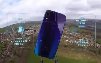 Redmi Note 7 flies to space, takes photos, and returns without a scratch