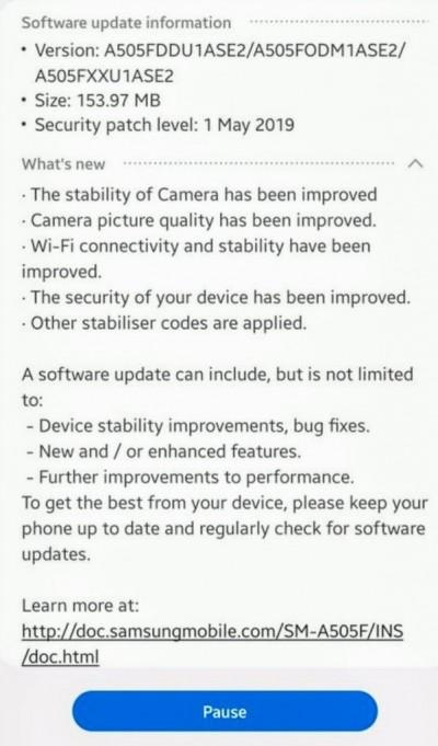 Latest Samsung Galaxy A50 update brings camera and Wi-Fi