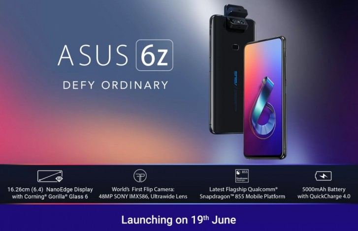 ASUS to launch 6z, not ZenFone 6, in India on June 19
