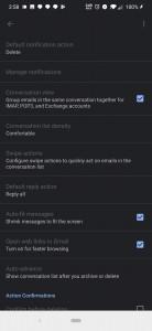 Dark Gmail Settings