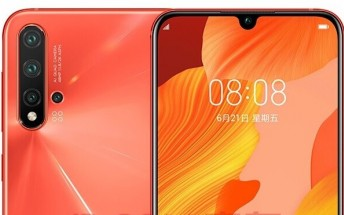 Huawei nova 5 Pro images show off quad camera and a waterdrop notch display