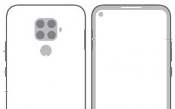 Huawei nova 5i Pro schematic surfaces with quad camera and a punch hole display