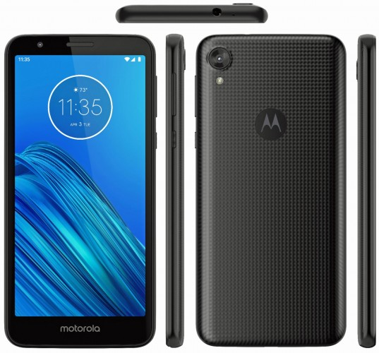 Moto E6 surfaces in new render with textured rear design